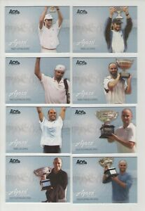 2006 Ace Authentic Grand Slam tennis / Agassi Anthology - 8 cards
