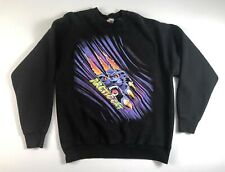 1990s Arctic Cat Panther Fruit Of The Loom Heavy Black Crewneck Sweatshirt L/XL