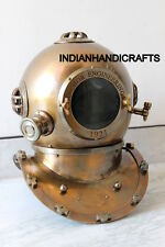 18 INCH COLLECTIBLES NAUTICAL DIVING DIVERS HELMET BROWN FINISH REPLICA GIFT