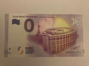 BILLET TOURISTIQUE 0 EURO ZÉRO EURO TOUR MONTPARNASSE