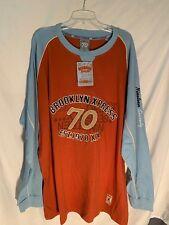 Brooklyn Express Men's L/S T-Shirt  SZ 3XL (Burnt Orange & L. Blue)