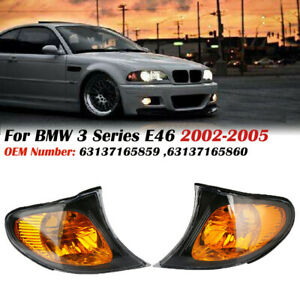 Side Marker Corner Parking Lights Turn Signals For BMW 3 Series E46  325i 02-05