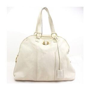 Yves Saint Laurent Hand Bag  Whites Leather 2206528