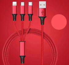 3 In 1 Multi Type C Cable Micro Usb Data Sync Charging Cord For Android Phone