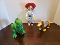 """Toy Story Figures 3pc Lot Jesse 9"""" Rex 8"""" Slinky Dog 5"""" Toys Mattel Disney"""