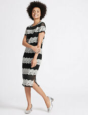 NEW M&S Collection Lace Short Sleeve Shift Dress Size 18 BNWT