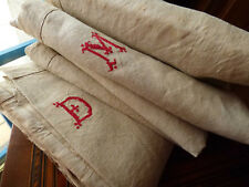 "Wonderful pair of Antique French ""pure"" linen sheets MD 85/108"" never seen"