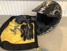 Scorpion EXO VX-24 Hellraiser Motocross Helmet. Youth Small. Gloves & Goggles.