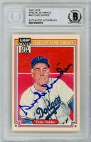 Duke Snider Signed 1987 Leaf Candy City Hall OF Fame Greats - Beckett BAS