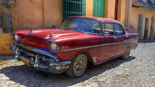 "Poster 24"" x 36"" Chevrolet Old Retro Car in  Havana Cuba"