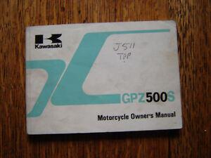 KAWASAKI  GPZ 500 S A6 B5  OWNERS  MANUAL  / HANDBOOK / BOOKLET