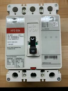 New Eaton HFD3050BP10 Circuit Breaker 50A 600V 65K