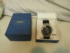 SEIKO SNA548 STAINLESS STEEL MEN'S WRISTWATCH with BOX