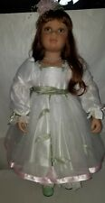 Virginia Turner Doll 33 Inches Tall Red Hair White Dress
