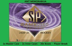 Brady Tkachuk Senators 2020/21 UD SP Game Used 1X MASTER CASE 20X BOX BREAK #3