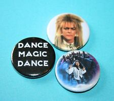 SET OF 3 DAVID BOWIE LABYRINTH BUTTON PIN BADGE