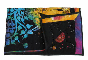 Stitching Blanket Cotton Baby Quilt Indian Handmade Reversible Elephant Printed