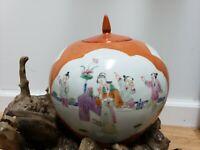 CHINESE Porcelain VASE Ginger Jar FAMILLE VERTE Children