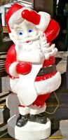 "Vintage Aprox 44"" to 46"" Tall Santa Blow Mold Checking Naughty/Nice List"