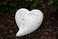 Grabschmuck großes Herz unvergessen Frostfest Steinguss Grab