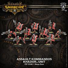 Warmachine BNIB Khador Assault Kommandos (10)  REPACK 33100