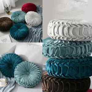 Velvet Round Sofa Cushion Couch Throw Pillow Pad Seat Home Decoration New 1pc
