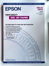 C13S041069 EPSON Photo Quality Ink Jet Paper - Matte Super A3 - 112 SHEETS