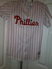 Philies Bobby Abreu Majestic Jersey  Sz Youth L Mlb Baseball