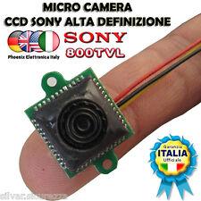 MICRO Telecamera  SONY 800TVL  ALTA DEFINIZIONE 8X8 mm