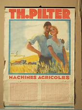 Calendrier Matériel Agricole PILTER 1933   Tracteur CASE affiche brochure poster