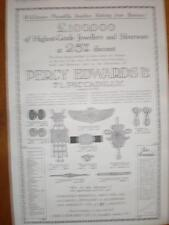 Percy Edwards Piccadilly London Jewellers advert 1921