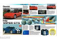 1999 Chevy CORVETTE vs Dodge VIPER GTS Road Test Brochure