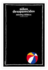 Decor movie Poster 4 film Niños desaparecidos.Lost Missing Kids.Beach ball.Black