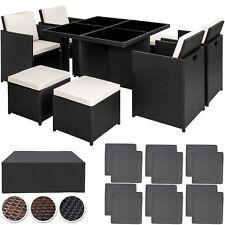 Poly Rattan Aluminium Sitzgarnitur Gartenmöbel Cube Lounge 4 Stühle Tisch
