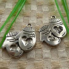 free ship 138 pcs  tibetan silver mittens charms 23x20mm #4082