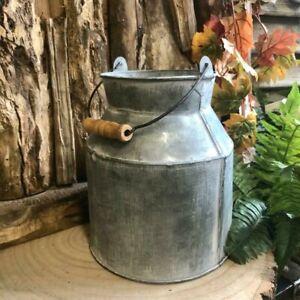 Shabby Metal Milk Churn Rustic Detail Vintage Style Wedding Flower Vase Pot Jug