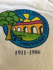 Vintage T Shirt City Of San Fernando 75th Anniversary 1986 Size Xlarge White