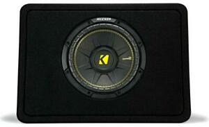 "Kicker CompC 44TCWC104 Ported truck enclosure with one CompC 10"" 4-ohm subwoofer"