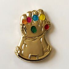 INFINITY GAUNTLET 3D Metallic Gold enamel pin avengers thanos cosmic ghost rider