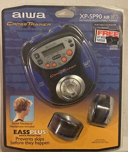AIWA Cross Trainer Portable CD Player Brand New  W/ Neckband Headphone