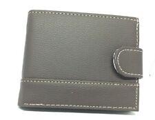 Mens Brown Wallet with Cream Stitch EQ1 (59771)