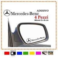 ADESIVI STICKERS MERCEDES BENZ + LOGO TUNING SPECCHIETTI DECALC  4X AMG GERMANY