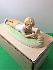 Vtg 80's A Child's World Frances Hook Porcelain Making Friends Original Box