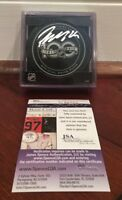 Patrik Laine Autographed Official NHL 100th Year Game Puck Winnipeg Jets JSA COA