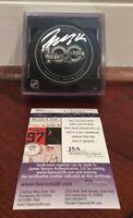 Patrik Laine Autographed Official NHL 100th Year Game Puck Winnipeg Jets JSA COA