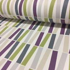 Purple Green Lines Wallpaper Funky Pattern PS Lined Paper Retro Feature Wall