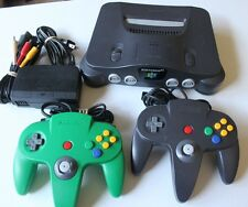 +++ Nintendo 64 Console System Complete 2 Controllers Cords TESTED Super Lot OEM