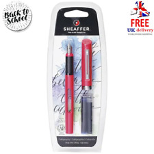 Sheaffer Pink Calligraphy Pen Blue and Black Refill
