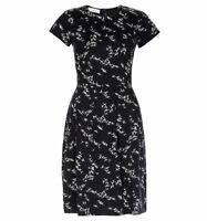 Hobbs Karen Navy White Printed Dress. Various Sizes. RRP £89. NEW WITH TAGS.