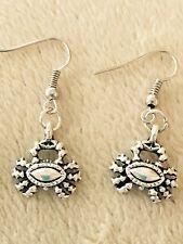 Cute New Tibetan Silver Crab Charm Dangle Drop Earrings